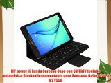 MP power @ Funda Carcasa Caso con QWERTY teclado inalambrico Bluetooth desmontable para Samsung
