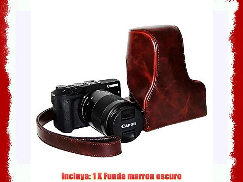 First2savvv XJPT-EOSM3-10 Funda Cámara cuero de la PU cámara digital bolsa caso cubierta con