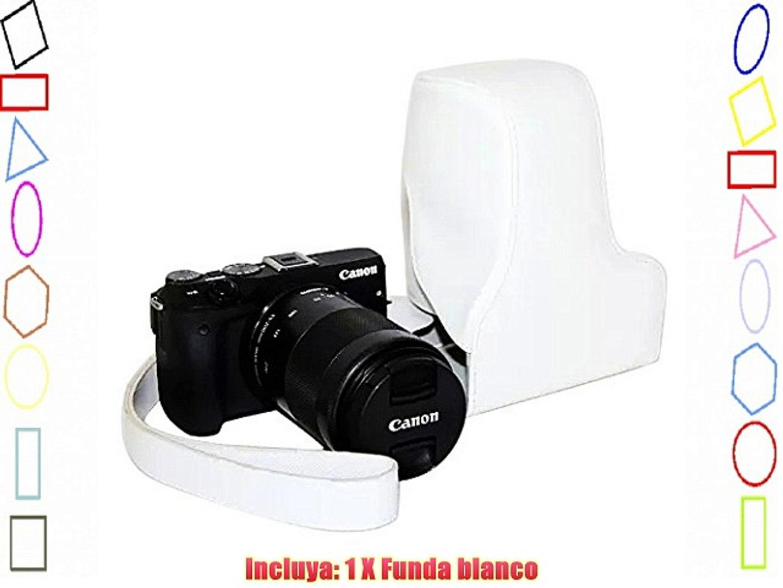 First2savvv XJPT-EOSM3-5 Funda Cámara cuero de la PU cámara digital bolsa caso cubierta con