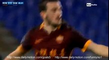 Alessandro Florenzi Goal AS Roma 1 - 0 Sampdoria Serie A 7-2-2016