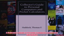 Download PDF  A Collectors Guide to Personal Computers and Pocket Calculators FULL FREE