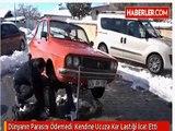 Karlı yollara pat pat lastiğiyle çözüm buldu Yarım Metre Karda Bile Gidiyor (Trend Videos)