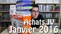 Achats Jeux vidéo Janvier 2016 + Live Twitch RE0 à 20H