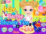 Baby Barbie Games-Baby Barbie Shower Fun Video-New Baby Bathing Game