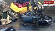 BMW car turned into SCRAP destroyed SCRAPPING HOW TO TURN INTO SCRAP 1 MINUTE - convertir coche en CHATARRA desguace ASI se DESTROZA coche EN 1 MINUTO - scrapping car turned into scrap destroyed