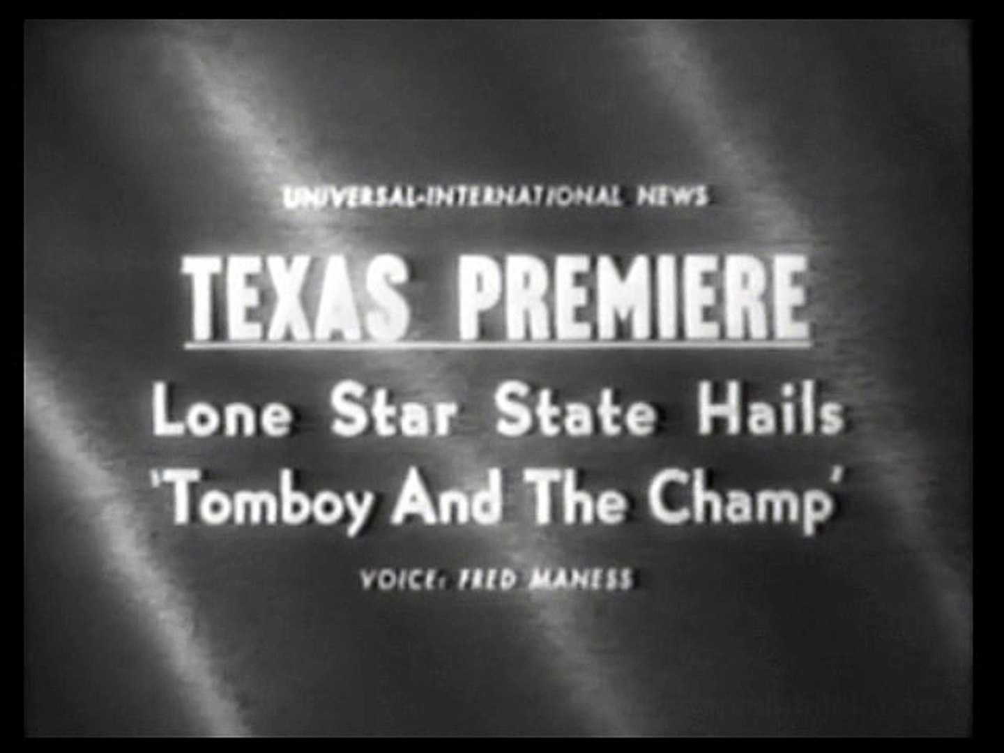 1961 TOMBOY AND THE CHAMP PREMIERE - REX ALLEN