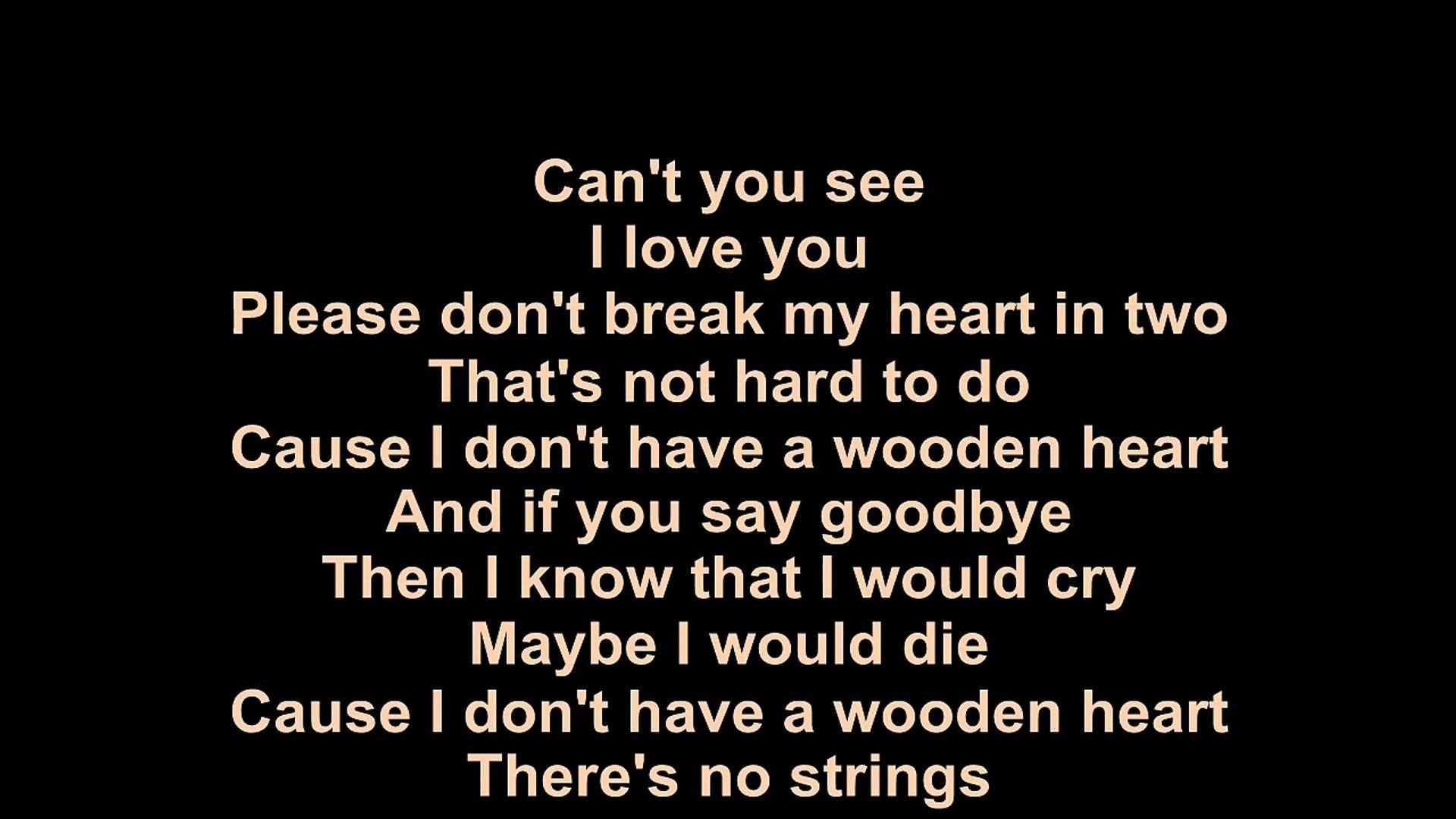 Elvis Presley Wooden Heart Lyrics Video Dailymotion