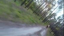 Ormanda Ayının Kovaladığı Bisikletlinin Heyecan Dolu Kaçışı