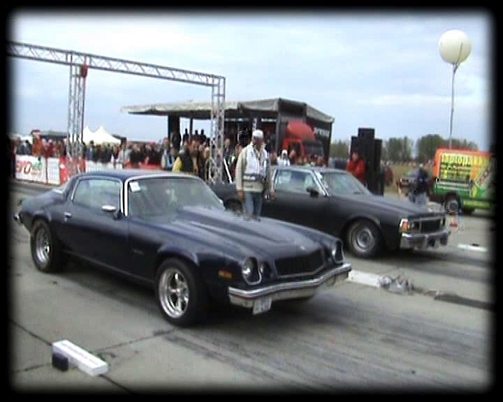 Chevy Camaro Vs. Chevy Caprice [1977] Drag Race