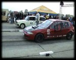 Honda Civic VTI Vs. Lada 2104 Drag Race