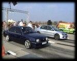 Mitsubishi Lancer EVO IX Vs. Opel Ascona Drag Race