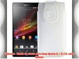 Suncase - Funda de cuero para Sony Xperia ZL / ZL LTE color blanco