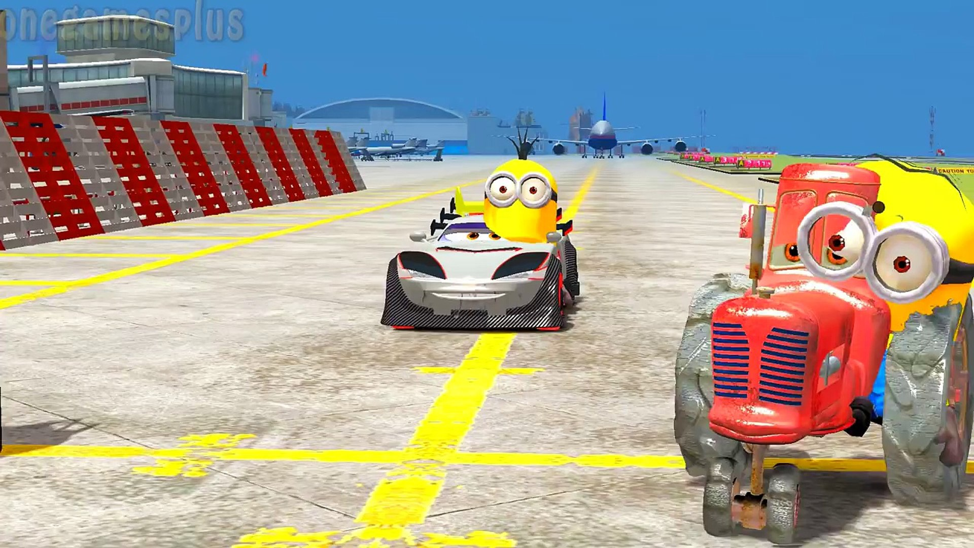 Minions and Disney cars Tokyo Kabuto & Tractor Children s Songs Nursery Rhymes