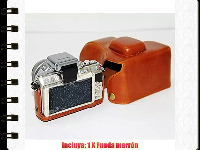 First2savvv XJPT-EPL5-09 Funda Cámara cuero de la PU cámara digital bolsa caso cubierta con
