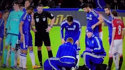 Chelsea defender Kurt Zouma injury (slow motion)