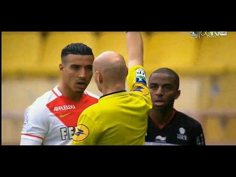 Carton Rouge Pour Nabil Dirar - Monaco 0-0 Nice - France - Ligue 1 - 06_02_16