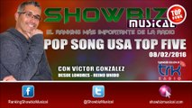 Ranking Musical Pop Song USA Top Five / 08-02-2016