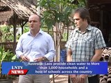 Lao NEWs on LNTV: Australia Laos provide clean water to households & schools across Laos.2