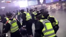 Pro Refugee Protesters Clash With Police At St Pancras Station