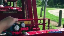 38 THOMAS AND FRIENDS Train Ride for kids Thomas the tank Engine Percy Ryan ToysReview