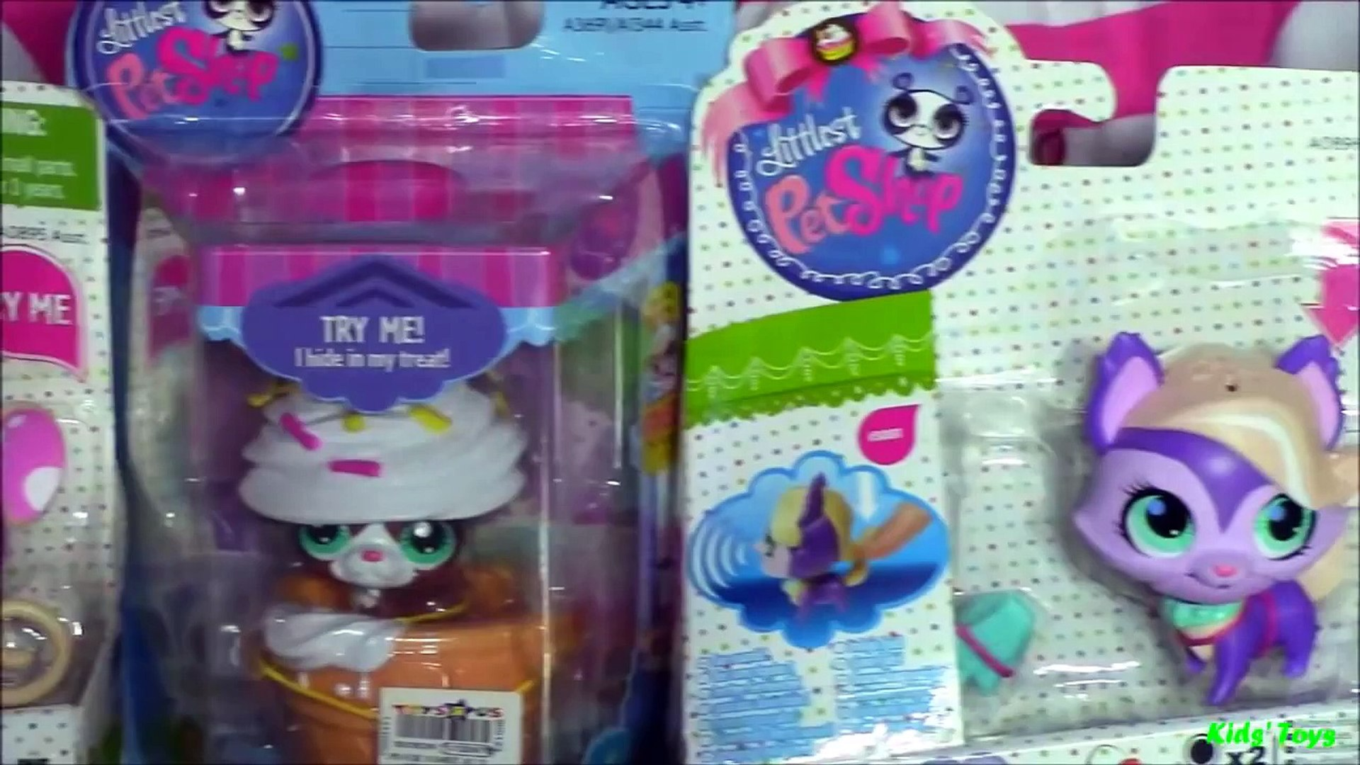LPS: 3 Sweet Snackin Pets Littlest Pet Shop and 1 Hide and Sweet Littlest Pet Shop