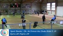 Tir rapide en double, premier tour, Club Elite Féminin, J9, Nyons vs Digoin, Sport Boules, saison 2015-2016