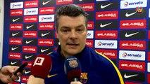 FCB Handbol: Valoraciones de Xavi Pascual a la previa del FC Barcelona Lassa-BM Aragón