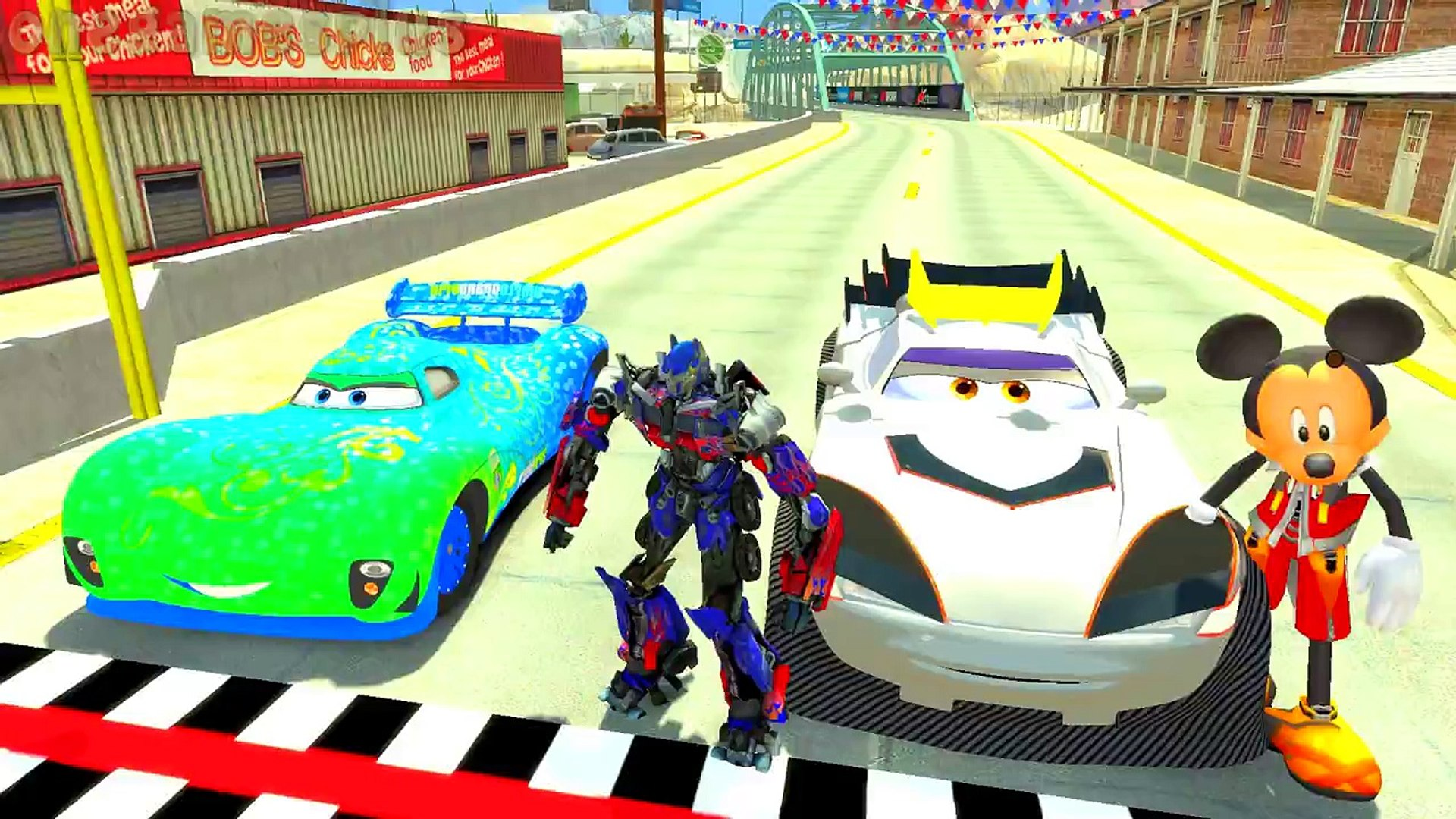 Mickey Mouse Disney cars Tokyo Kabuto and Carla Veloso Optimus Prime Children s Songs