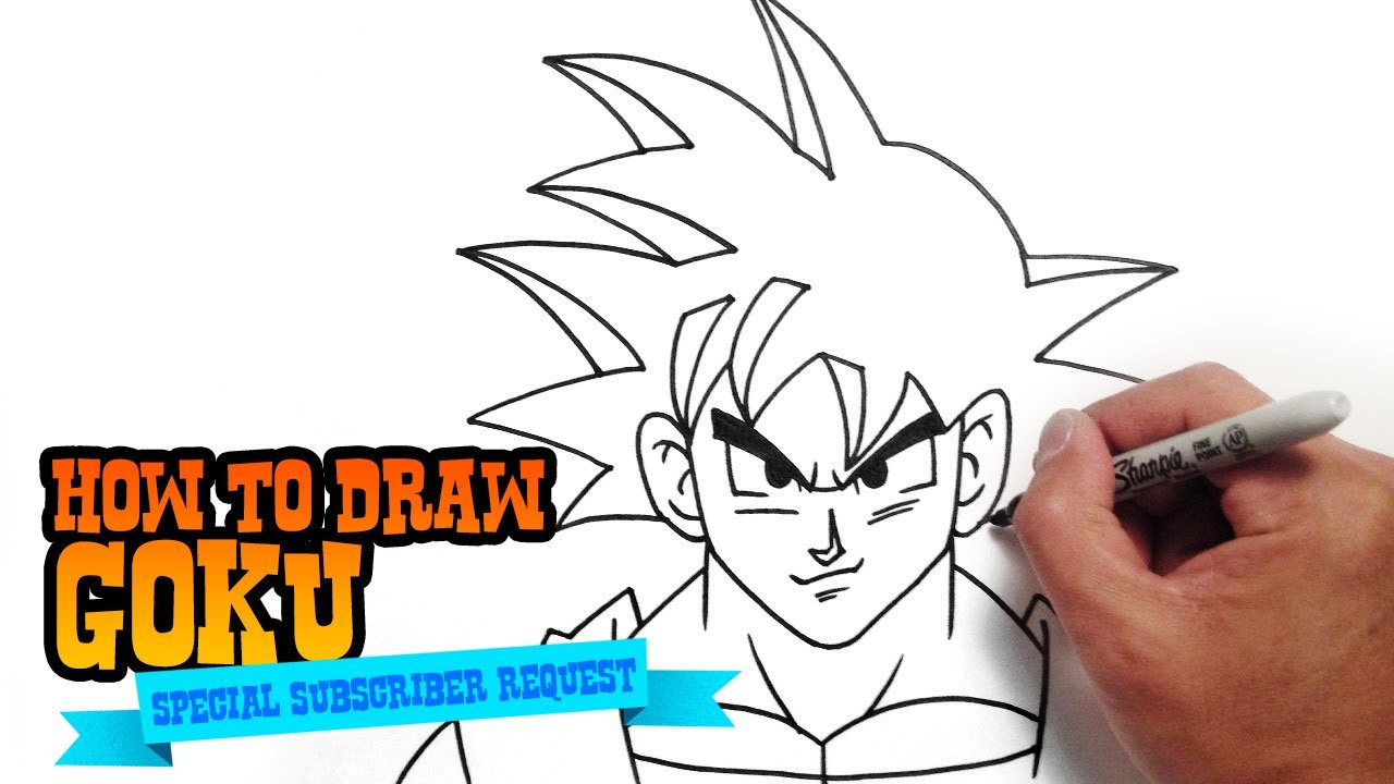 How to draw goku from dragon ball step by step video