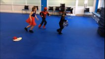 Spiderman cartoon, Spiderman fights batman and supergirl - Random Outtakes -