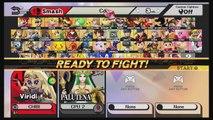Viridi Vs Palutena - Goddess Battle - Mario Maker Stage - Super Smash Bros For Wii U Gameplay