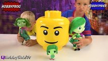 GIANT DISGUST Disney Inside Out Lego Head Makeover! Blind Boxes + HobbyKids By HobbyKidsTV