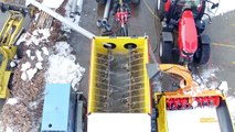 Testing the new Ecodeneige snow melter in northern Alpes