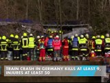 Train Crash in Germany Kills at Least 9, Injures at Least 50
