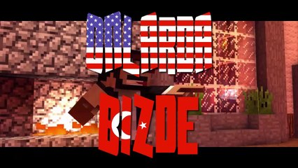 Minecraft : Onlarda/Bizde (Türkler Vs Yabancılar) #1