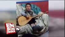 Saz çalan sevimli çocuktan Yav banane şarkısı