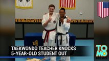 Teacher goes insane: crazy taekwondo instructor gets angry, knocks out 5-year-old kid - TomoNews