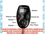 Patuoxun Bluetooth Transmisor FM Manos libres kit de coche con Pantalla LCD MP3 Player con