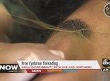 Free eyebrow threading