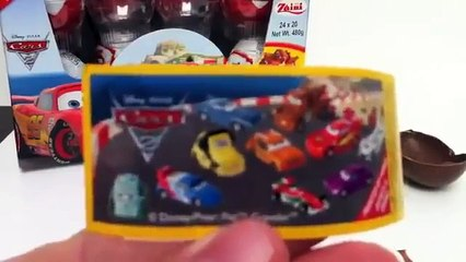 Cars 2 Kinder Surprise Egg Unboxing Disney Pixar - Kinder Sorpresa Cars 2