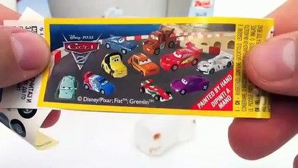 Cars 2 Surprise Eggs Fin MCMissile Disney Pixar toy gift - Kinder sorpresa huevo juguete regalo Car
