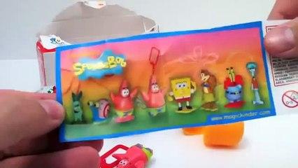SpongeBob Kinder Surprise Eggs Unboxing with toy gift - Kinder sorpresa huevo juguete regalo