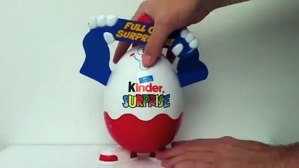 Rare Large Kinder Surprise Egg + 7 gift toys Part 1 of 6 - 7 pack