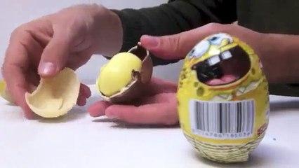SpongeBob Surprise Eggs Unboxing - kidstvsongs