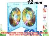 MediaRange BOX38D-50 funda para discos ópticos - fundas para discos ópticos (Blu-ray Azul De