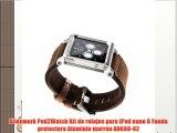 Alienwork Pod2Watch Kit de relojes para iPod nano 6 Funda protectora Aluminio marrón AN608-02