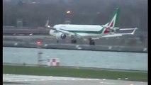 Un pilote de ligne dans l'impossibilité de poser son avion à cause de vents puissants