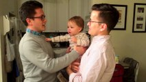 Dad and his Twin confuse cute little Baby... Who's your Daddy?