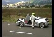 lamborghini ferrari crash accidents 2016