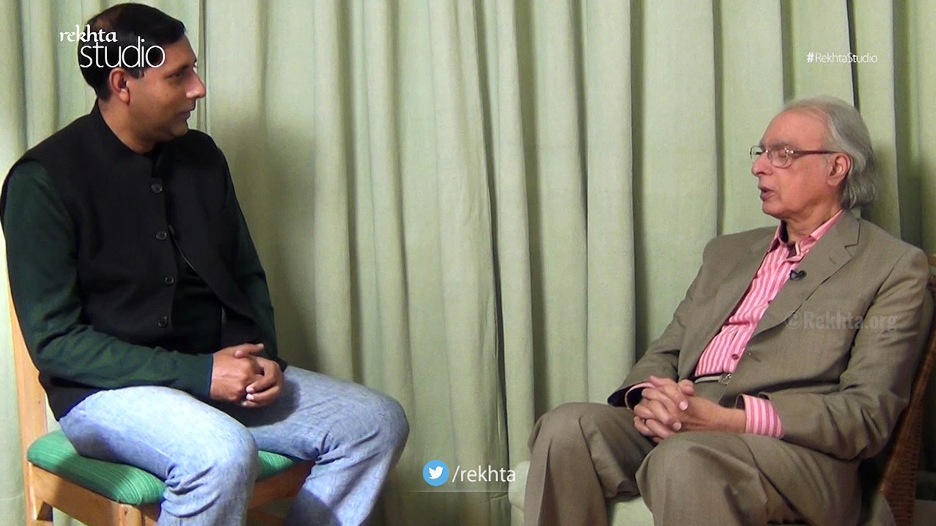 Pirzada Qasim in conversation with Zamarrud Mughal for  Rekhta org_Dailymotion